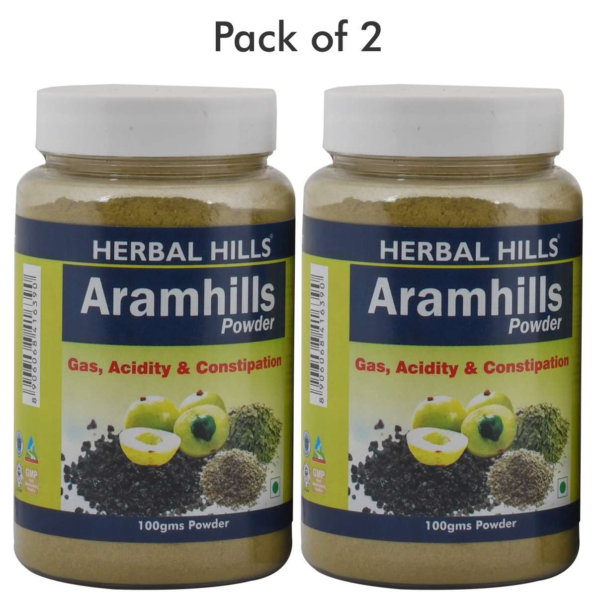 Herbal Hills Aramhills Powder - 100 gms (Pack of 2) - Ayurvedic Constipation Relief Powder - For Gastric And Acidity