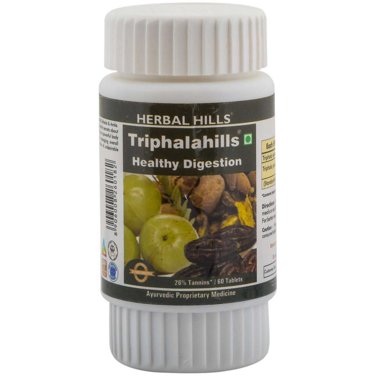 Herbal Hills Triphalahills 60 Tablets Triphala tablet - 500 mg Pure powder and extract blend in a Capsule