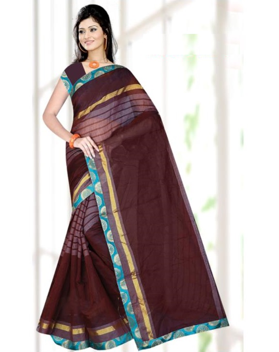Banarsi cotton saree best selling New designer fancy  latest trend top