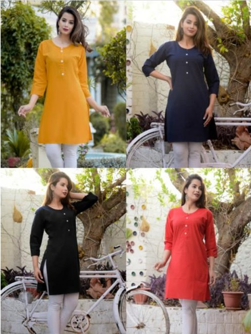 Short Cotton Kurti For woman M-L-XL-2XL