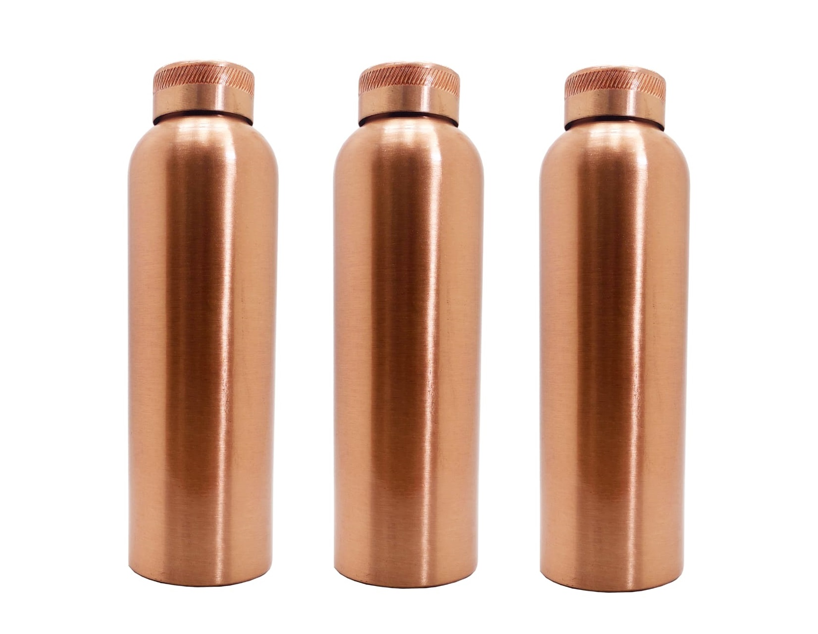 PURE COPPER WATER BOTTLE CAPACITY-1000ML X 3