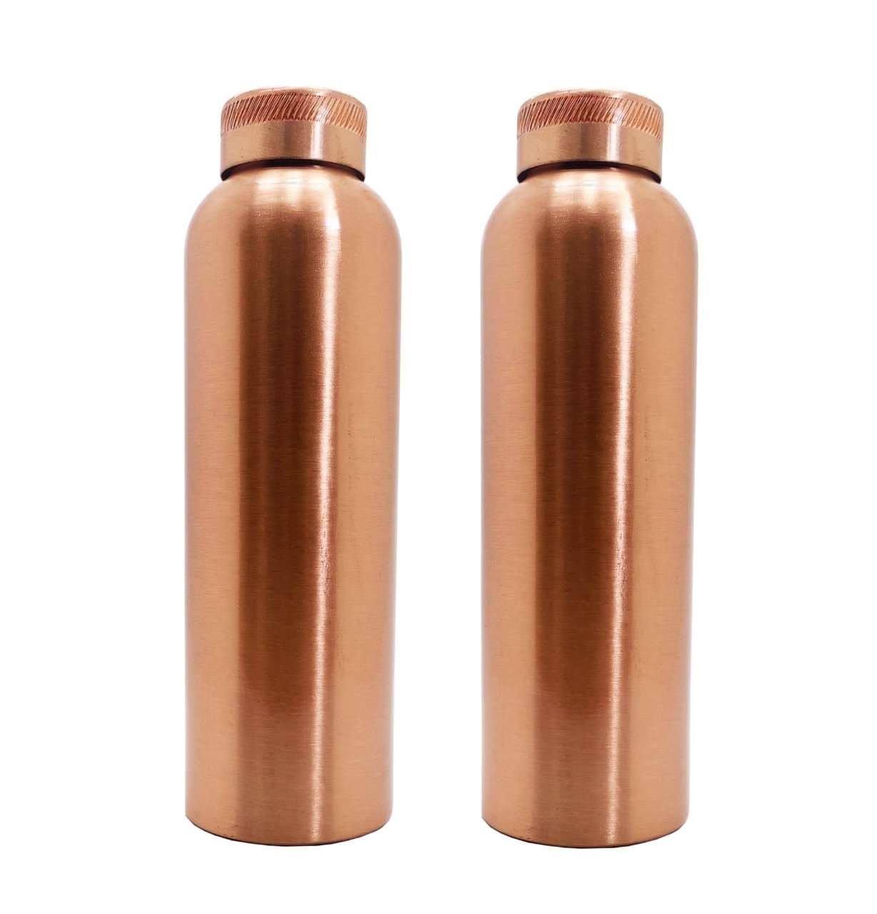 PURE COPPER WATER BOTTLE CAPACITY-1000ML X 2